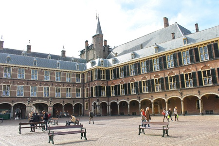 The Binnenhof at Den Haag, building of the dutch parliament and government
