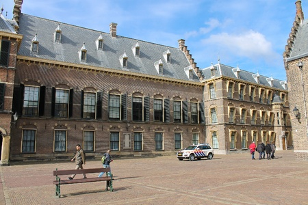 The Binnenhof at Den Haag, building of the dutch parliament and government  Stock Photo - 13685859