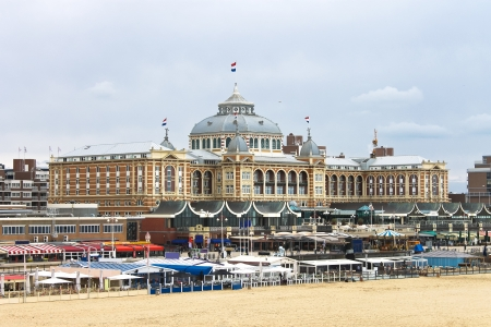 Dutch beach resort with famous Kurhaus hotel . Netherlands, Den Haag