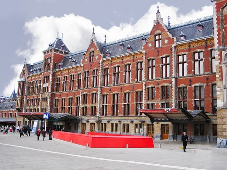 Amsterdam Central Station and a subway station. Netherlands.