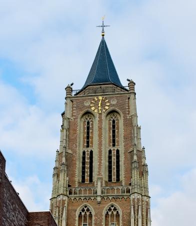 gorinchem: The old church tower in Gorinchem. Netherlands Stock Photo