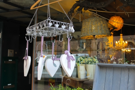 Selling holiday ornaments in the flower shop in Gorinchem. Netherlands photo