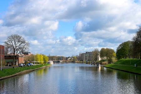gorinchem: Water landscapes Gorinchem. Netherlands Stock Photo