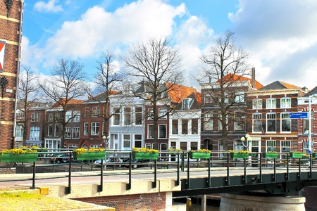 A typical Dutch landscape of the town  Gorinchem,  Netherlands Stock Photo - 17123463