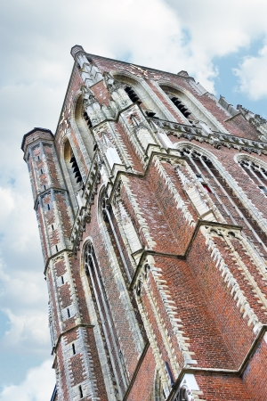 gorinchem: The old church tower in Gorinchem  Netherlands Editorial