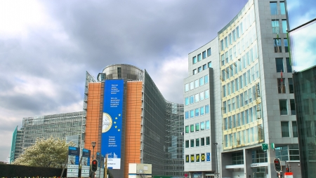 European Parliament in Brussels. Belgium