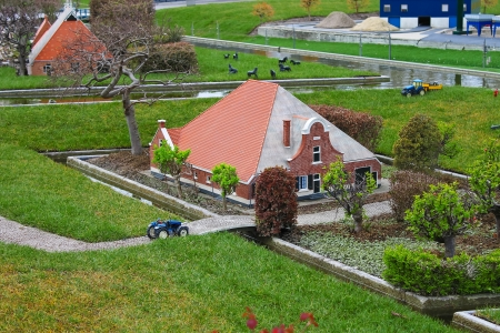 Madurodam - miniature city near  Hague in  Netherlands  photo