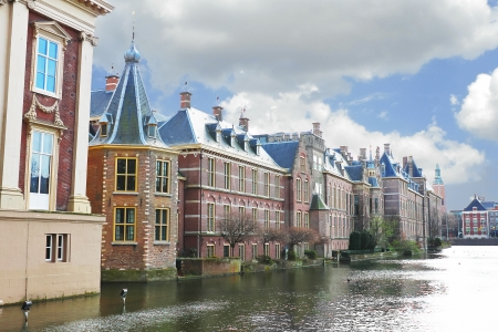 Binnenhof Palace in Den Haag, Netherlands  Dutch Parlament buildings  photo