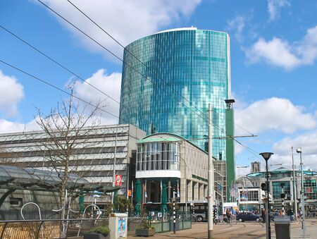ROTTERDAM, NETHERLANDS – APRIL 1: The street before the World Trade Centre on 01.04.2012 in Rotterdam, Netherlands.