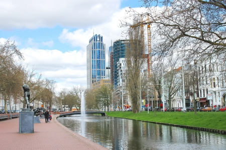 On  streets of the city of Rotterdam. Netherlands
