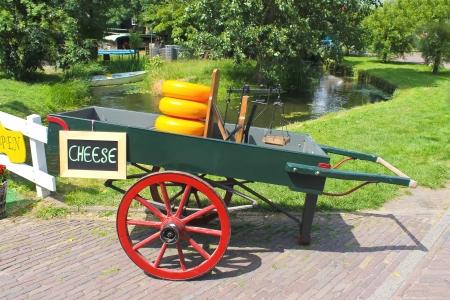 Cheese cart on the island of Marken  Netherlands photo
