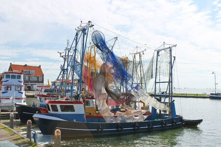 volendam: Fishing ships in the port of Volendam  Netherlands