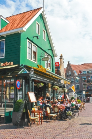 volendam: Tourists at a restaurant in Volendam. Netherlands