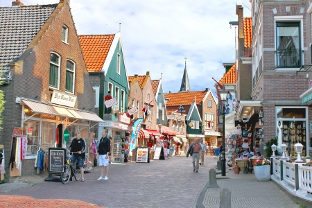 Volendam on the street. Netherlands