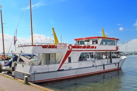 volendam: Tourist boat in the port of Volendam  Netherlands Stock Photo