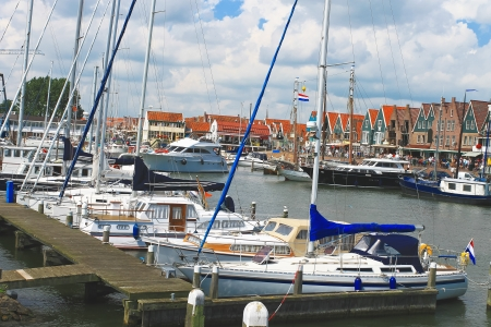volendam: Ships in the port of Volendam. Netherlands Stock Photo