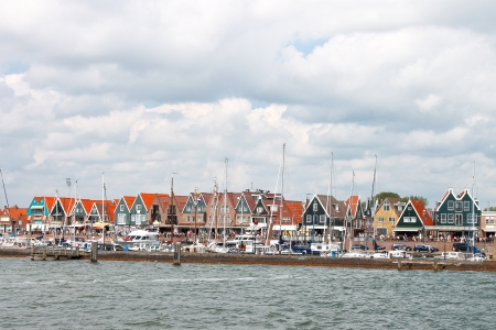 Ships in the port of Volendam. Netherlands