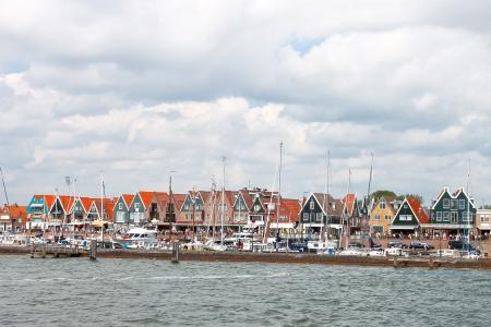 Ships in the port of Volendam. Netherlands