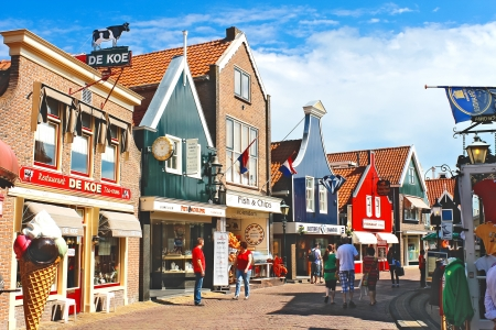 Volendam on the street. Netherlands