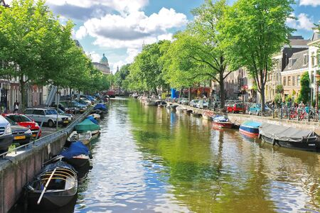 Amsterdam on a clear summer day. Netherlands