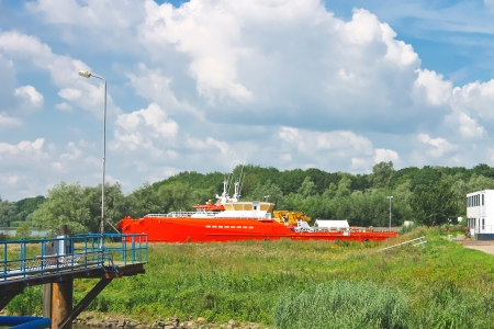 commercial tree service: The new ships at the shipyard. Netherlands