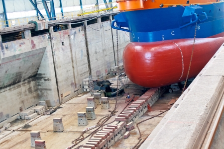 shipbuilder: Ship in  shipyards covered dry dock