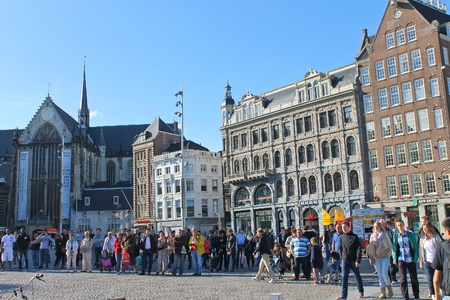 People in the area of Amsterdam. Netherlands
