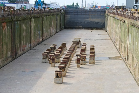 Preparation of dry dock for acceptance the ship Imagens