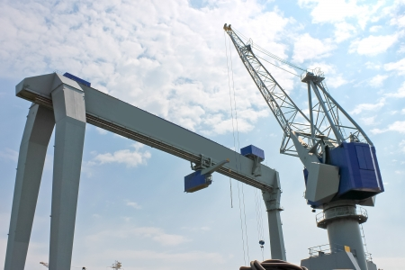 Gantry crane for unloading at the port photo