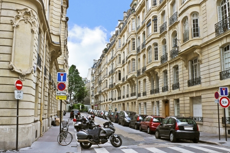 Lane in the center of Paris. France Stock Photo