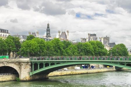 Bridge over the Seine. Paris. France photo
