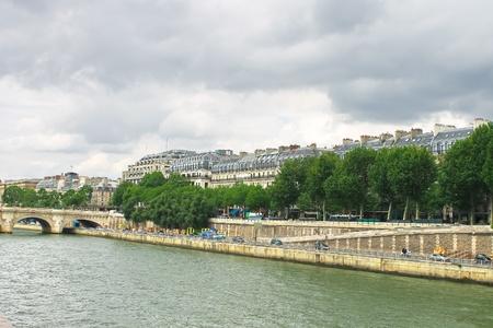 Seine embankment in Paris. France photo