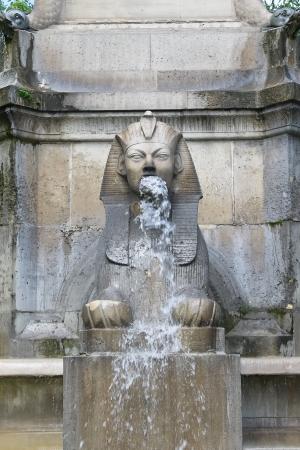 Sphinx  of Fontaine du Palmier (1806-1808). Paris, France. Stock Photo - 16175374