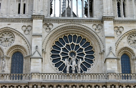 Rose Window. Notre Dame de Paris. France photo