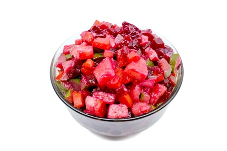 Vinaigrette. Russian salad with beets and other boiled vegetables Stock Photo - 16609711