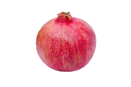 One whole pomegranate on white background photo