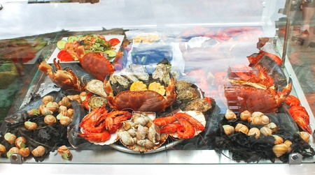 Seafood on display in the restaurant. Stock Photo - 16787773