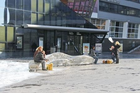Photoshoot on the street Hague. Netherlands