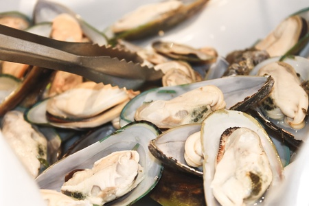 Oysters in a bowl in a restaurant Stock Photo - 17046462