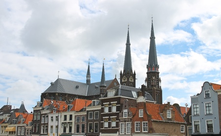 The central square in old  Delft. Netherlands Stock Photo - 17123858