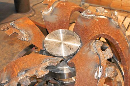 billet: Billet new rotor dredge in the workshop shipyard