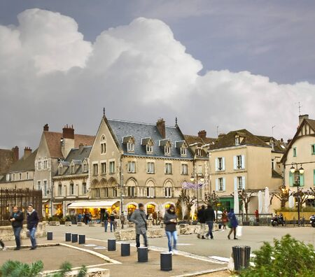 On the streets of Chartres.  France