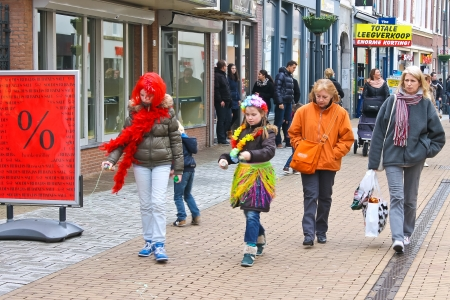 Annual Winter Carnival in Gorinchem. February 9, 2013, The Netherlands Stock Photo - 18113662