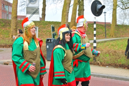 Annual Winter Carnival in Gorinchem. February 9, 2013, The Netherlands Stock Photo - 18113643