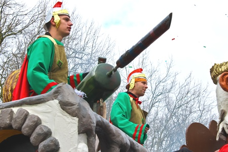 Annual Winter Carnival in Gorinchem. February 9, 2013, The Netherlands Stock Photo - 18113644