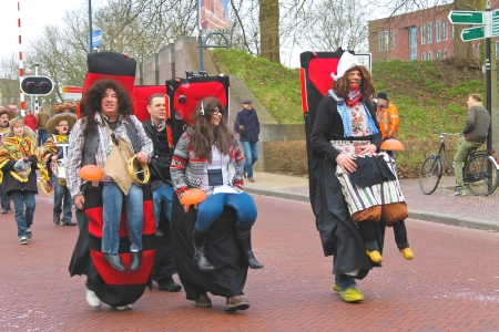 gorinchem: Annual Winter Carnival in Gorinchem. February 9, 2013, The Netherlands