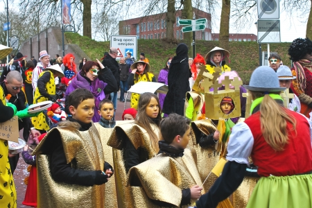 Annual Winter Carnival in Gorinchem. February 9, 2013, The Netherlands Stock Photo - 18114870