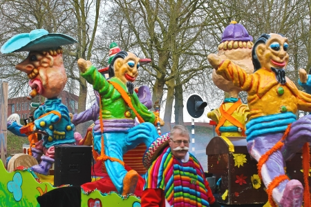Annual Winter Carnival in Gorinchem. February 9, 2013, The Netherlands Stock Photo - 18114891