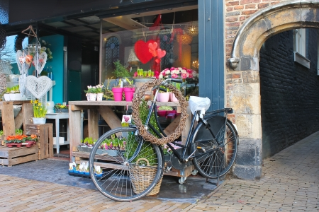 Flower shop in Gorinchem. Netherlands  photo