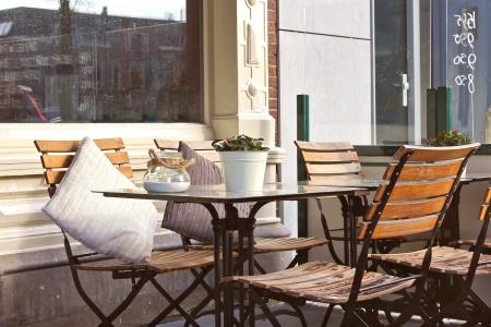 gorinchem: Morning street cafe in Gorinchem. Netherlands